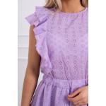 Rochie de vara mini cu volane violet