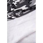 Rochie asimetrica stil militar gri cu negru