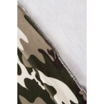 Rochie tip hanorac cu imprimeu army 9107-4