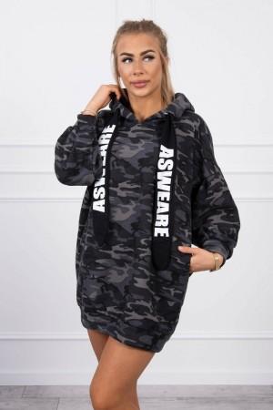 Hanorac tip rochie cu imprimeu army 9107-5