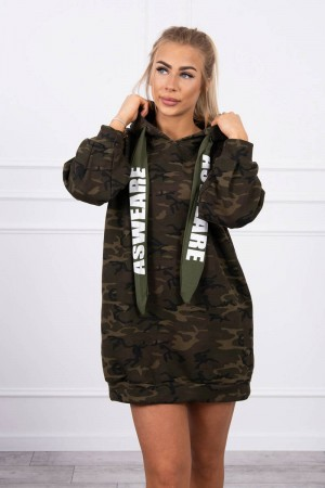 Hanorac tip rochie cu imprimeu army 9107-6