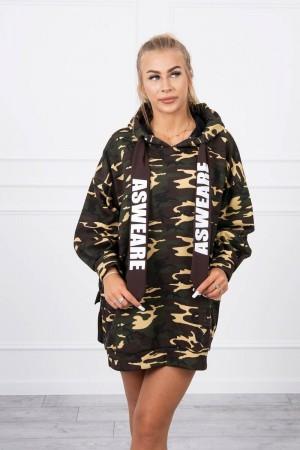Rochie toamna iarna sport cu imprimeu army