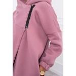 Cardigan dama toamna iarna asimetric roz