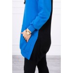 Hanorac hoodie dama gros blue