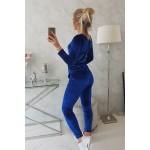 Trening din catifea dama albastra