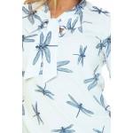 Bluza eleganta alba cu libelule funda decorativa