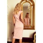 Rochie roz pudrat office-eleganta dreapta