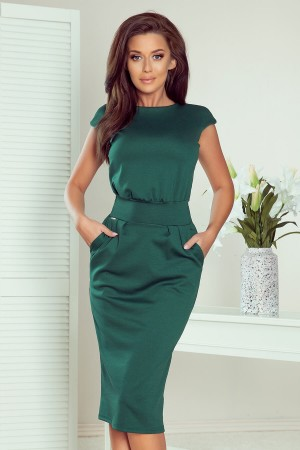 Rochie verde office-eleganta dreapta