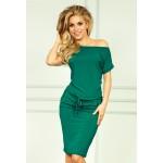 Rochie de zi vara verde cu lungime medie