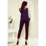 Bluza dama cu maneci lungi bleumarin