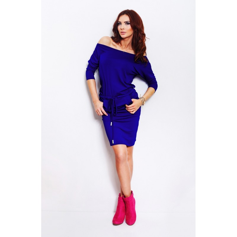 Rochie sport casual cu buzunare Royal blue