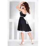 Rochie Pin Up neagra cu jupon alb model diafan