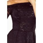 Rochie eleganta din dantela neagra cu umeri goi