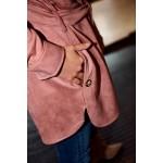 Camasa dama imitatie piele intoarsa roz