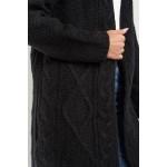Cardigan negru cu guler supradimensionat