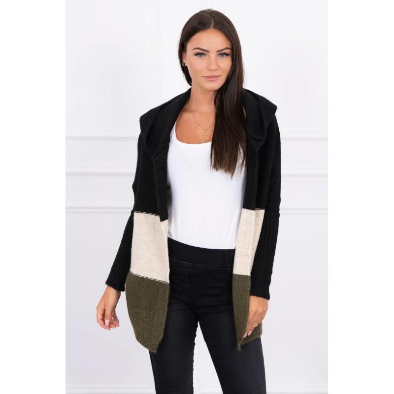 Cardigan scurt cu gluga tricotat 2019-15-2