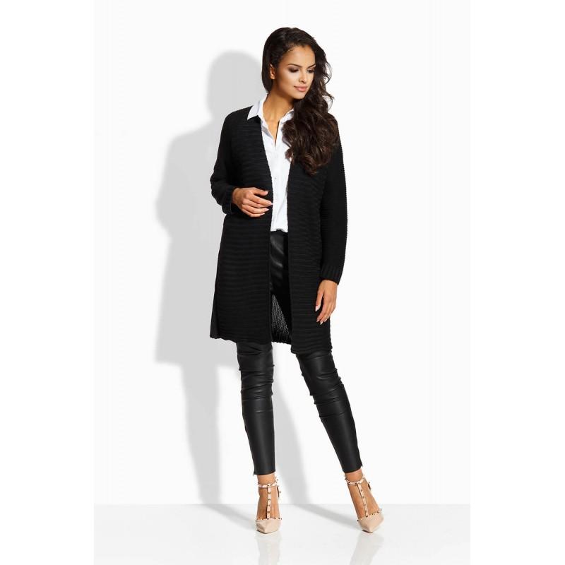 Cardigan elegant de dama cu maneci lungi negru