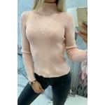 Bluza casual roz tricotata dama