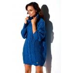 Rochie lemoniade casual tricotata albastra