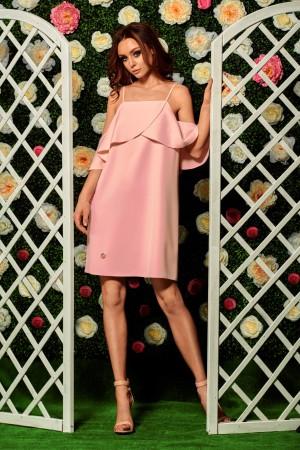 Rochie ocazie roz-deschis cu bretele subtiri si umeri goi