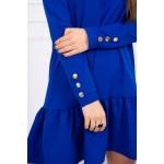 Rochie cu maneca lunga de zi albastra