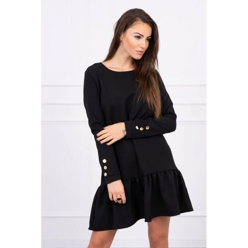 Rochie cu maneca lunga de zi neagra