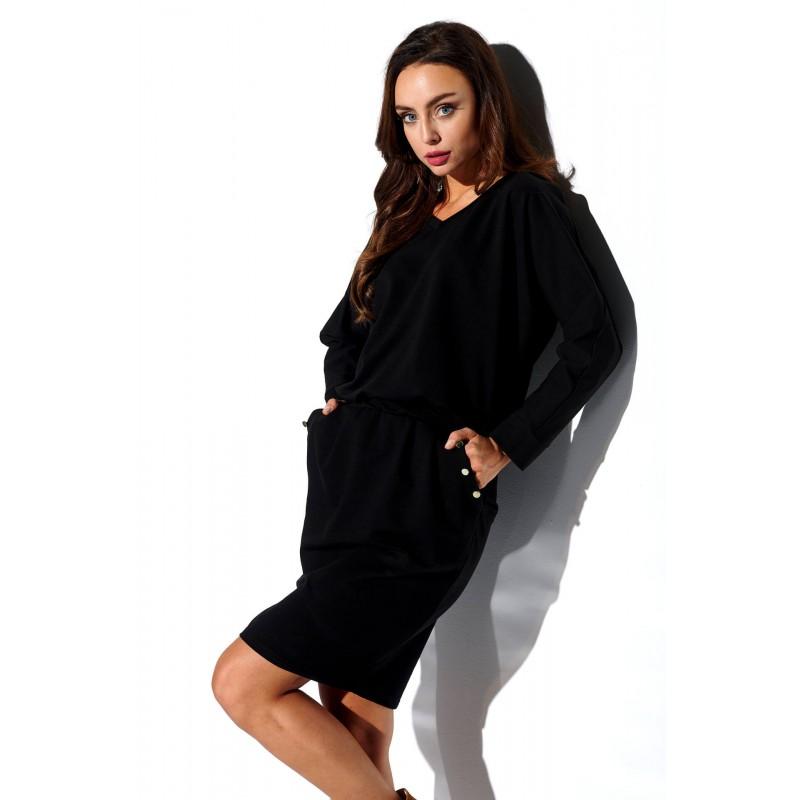 Rochie cu maneca lunga Neagra