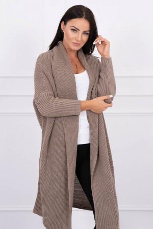 Cardigan dama cappuccino tricotat
