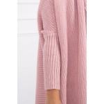 Cardigan dama roz-decshis tricotat