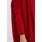 Cardigan tricotat Rosu cu maneci lungi