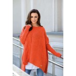 Pulover asimetric orange