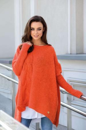 Pulover asimetric orange