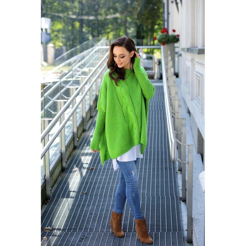Pulover asimetric verde