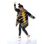 Cardigan dama cu imprimeu aztec negru