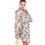 Rochie mini cu imprimeu multicolor floral